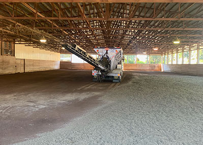 Soil and Sand Placement by Dan Jones Conveyor Trucks